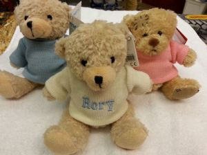 PERSONALISED EMBROIDERED BEARS - With a Message of Your Choice